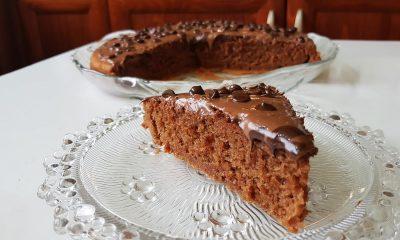 Κέικ πραλίνας στο λεπτό
